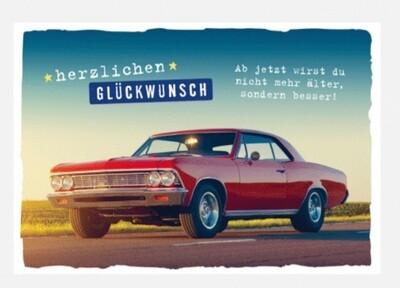 Geburtstagskarte Auto (12x17)