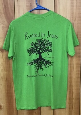 Rooted T-shirt Electric Green
