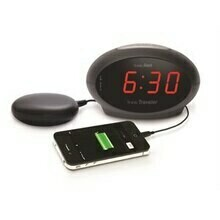 Sonic Boom Sonic Traveler Alarm Clock w/bed Shaker and USB Charging
