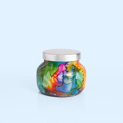 8 oz Volcano Rainbow Watercolor Petite Jar Candle