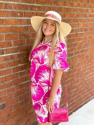 Betsy Dress Pink Shell
