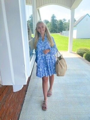 Blue Hydrangea Dress