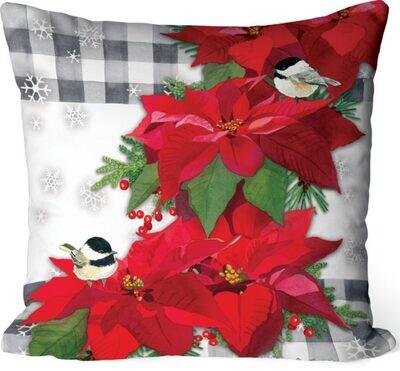 Poinsettia Cascade Pillow