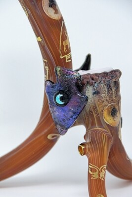 American Glass Craft Antler Pipe WSG