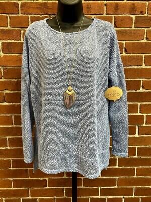 HoneyMe Blue Net Knit