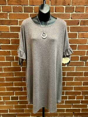 Bluheaven Coffee Tunic Dress