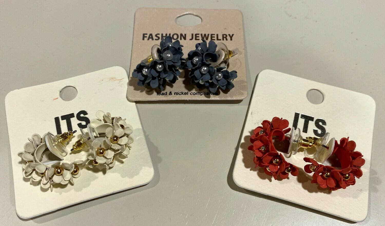 Petite Floral Hoop Earrings