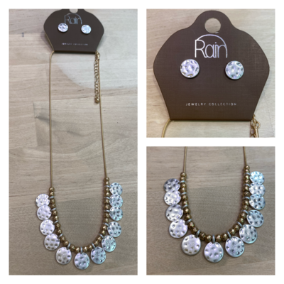 Two-Tone Necklace & Earring Set