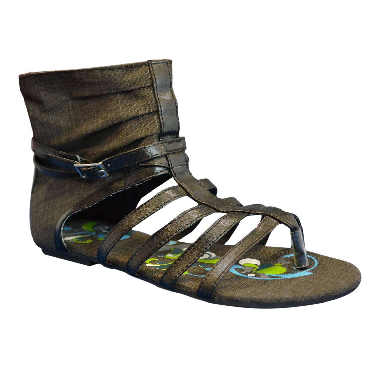 f8ea83b6ab67 Sun Luks- Printed Canvas Gladiator Sandal