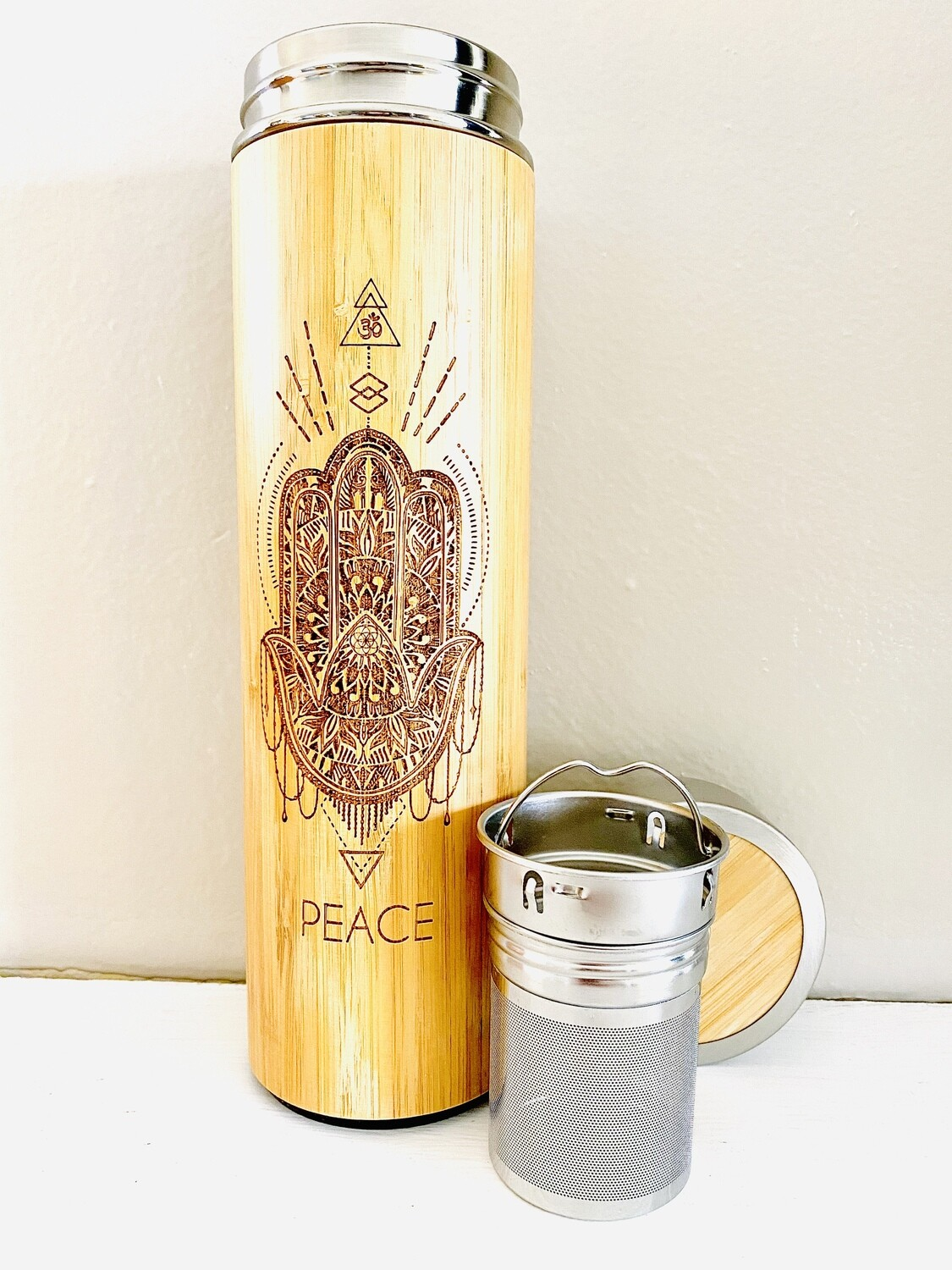500mL PEACE Bamboo Water Bottle