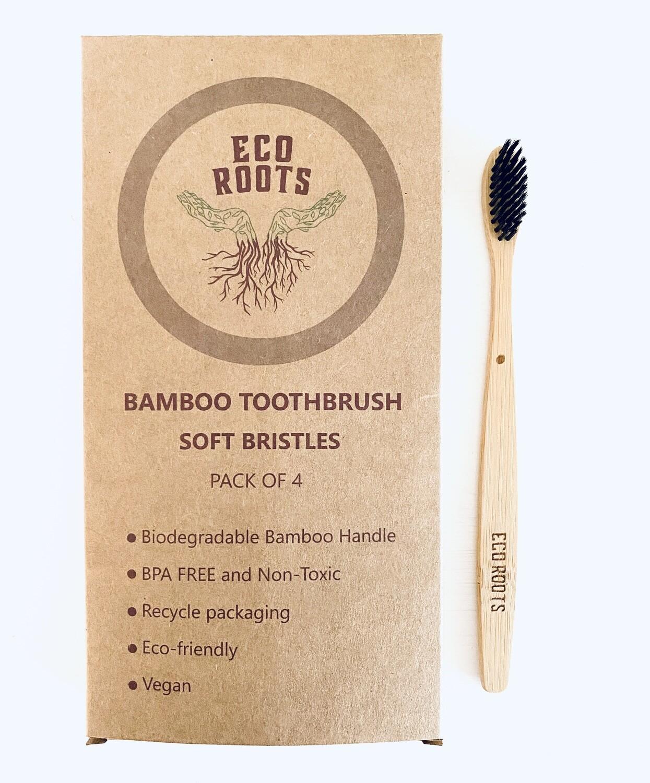 Natural Bamboo Toothbrush 4pk