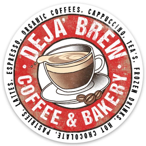 Deja Brew Logo Sticker (3