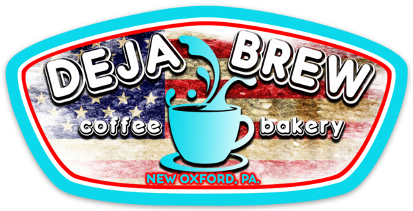 Deja Brew Flag Sticker (5