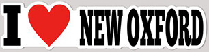 I Love New Oxford Sticker (4.25