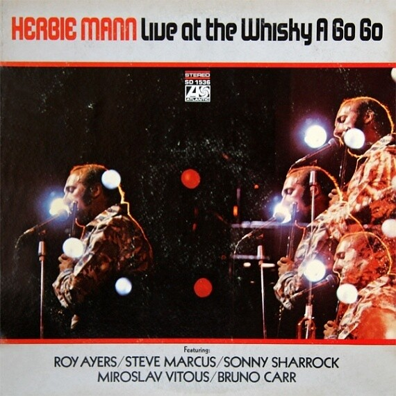 """Herbie Mann """"Live At The Whiskey A Go Go"""" VG+ 1969"""