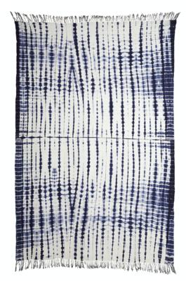 Azure Tie Dye Throw