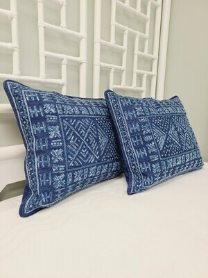 Navy Blithe Pillow