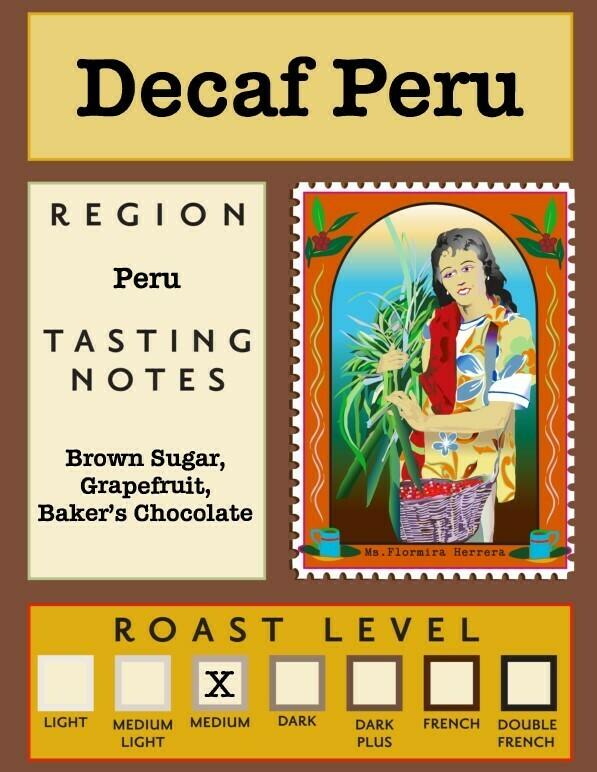 12oz Decaf Organic Peru