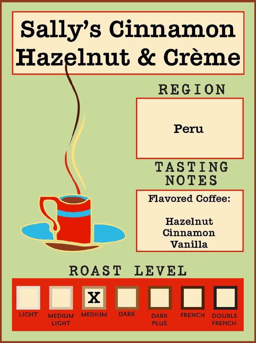 12oz Sally's Cinnamon Hazelnut & Cream