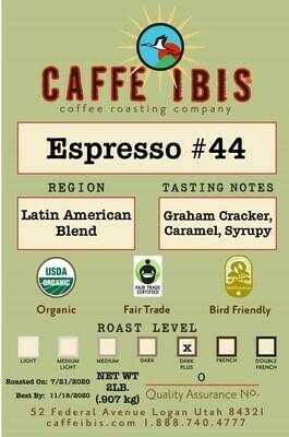 2lb Organic Espresso Blend