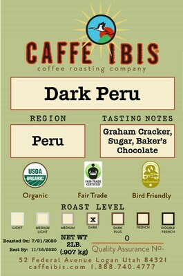 2lb Organic Cafe Femenino/Dark Peruvian