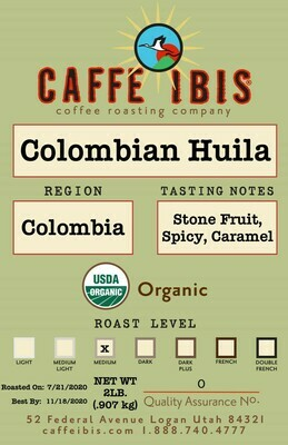 2lb Organic Colombian Huila