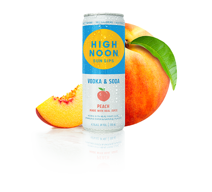 High Noon Peach 4 Pack