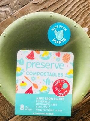 Preserve Compostable Green Bowls 8 Pack