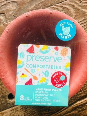 Preserve Compostable Red Bowls 8 Pack