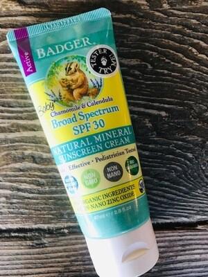 Badger Baby Sunscreen SPF 30 2.9oz