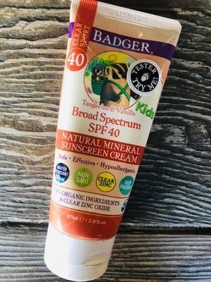 Badger Kids Clear spf 40 2.9oz