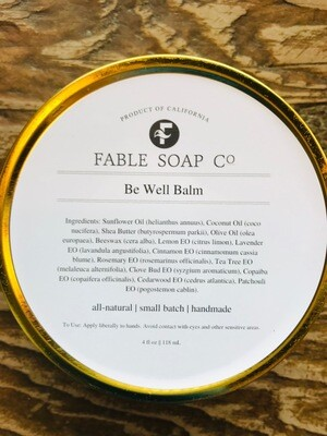 Fable Soap co. Be Well Body Balm