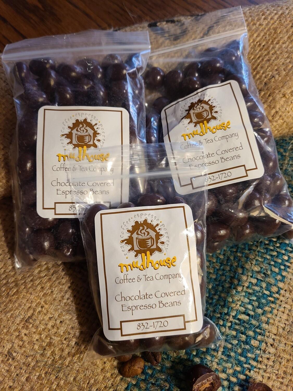 2.5oz Bag of Chocolate Covered Espresso Beans