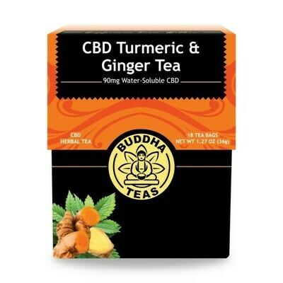 Buddha Turmeric & Ginger CBD Tea