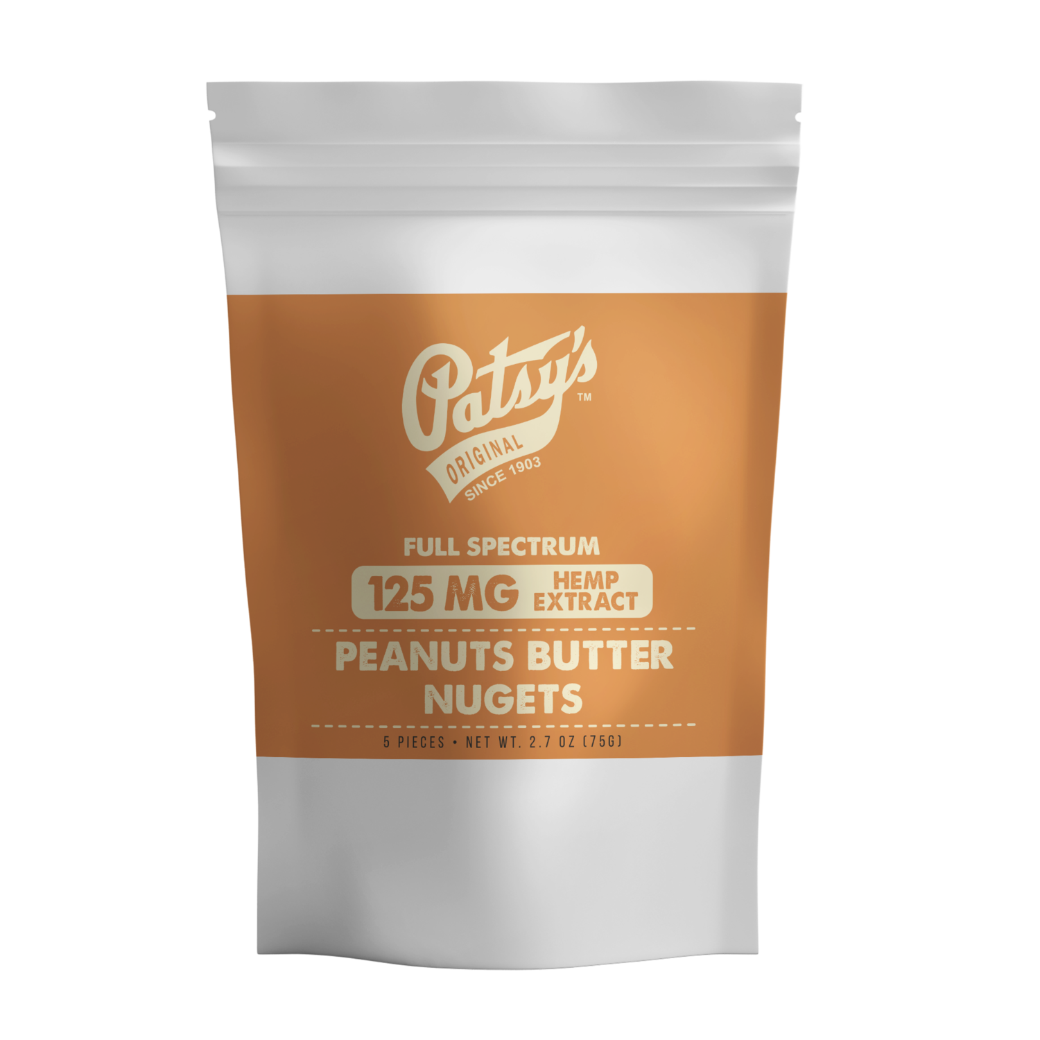 Patsy's Peanut Butter & Chocolate Nugget, 5 count