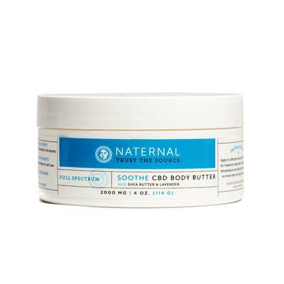 Naternal CBD Body Butter 2000mg