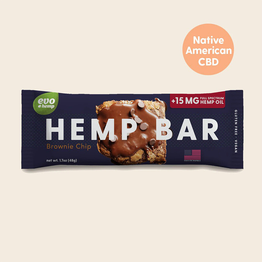 Evo Brownie Chip CBD Bar, 1.7oz