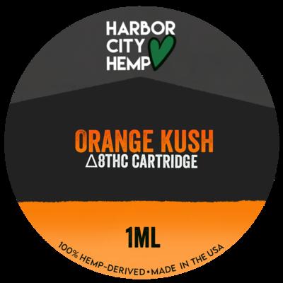 Harbor City Hemp Delta 8 vape 1ml Orange Kush