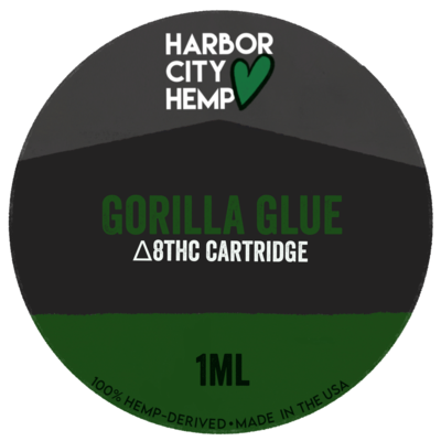 Harbor City Hemp Delta 8 vape 1ml Gorilla Glue