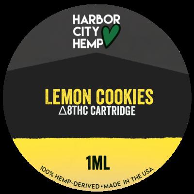 Harbor City Hemp Delta 8 vape 1ml Lemon Cookies