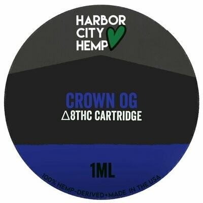 Harbor City Hemp Delta 8 vape 1ml Crown OG