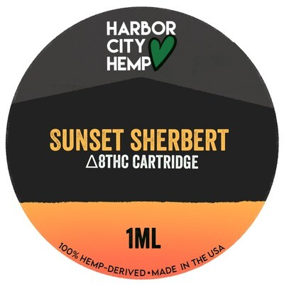 Harbor City Hemp Delta 8 vape 1ml Sunset Sherbet