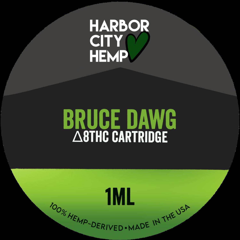Harbor City Hemp Delta 8 vape 1ml Bruce Dawg