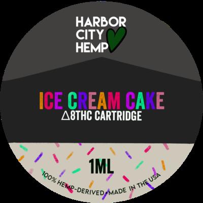 Harbor City Hemp Delta 8 vape 1ml Ice Cream Cake