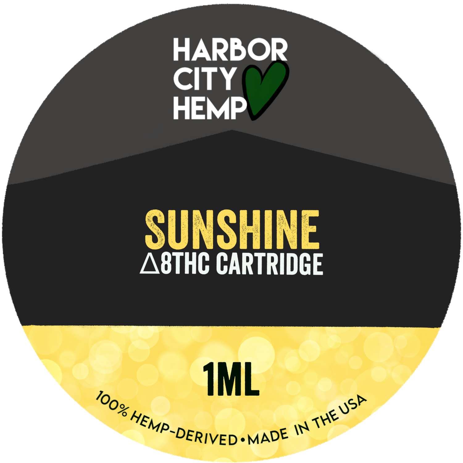 Harbor City Hemp Delta 8 vape 1ml Sunshine