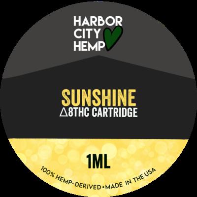 Harbor City Hemp Delta 8 vape 1ml Sunshine