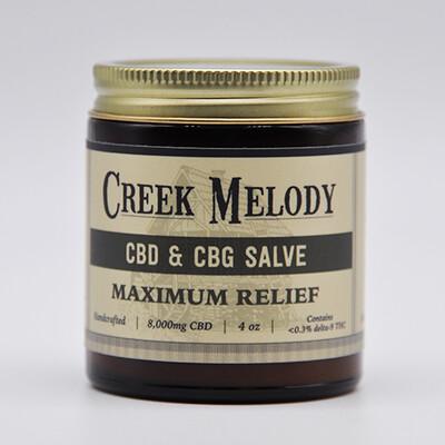 Creek Melody CBD & CBG Salve, 8000mg, 4oz