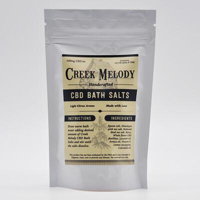 Creek Melody CBD Bath Salts, 5oz - 500mg CBD