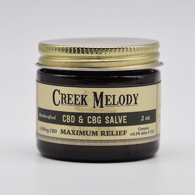 Creek Melody CBD & CBG Salve, 4000mg, 2oz