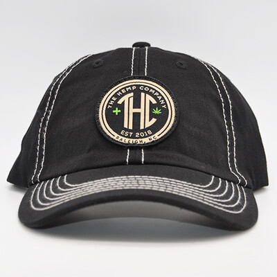 THC Baseball Cap - Black w/ contrast stitch